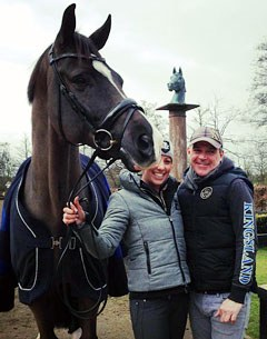 With Charlotte Dujardin and groom Alan Davies on a shoot for Kingsland