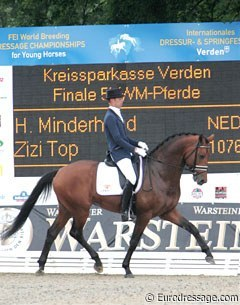 Hans Peter Minderhoud and Zizi Top at the 2009 World Young Horse Championships :: Photo © Astrid Appels