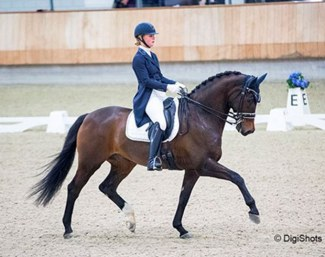 Kimberly Pap and Victory at the 2018 Dutch Indoor Championships :: Photo © Digishots