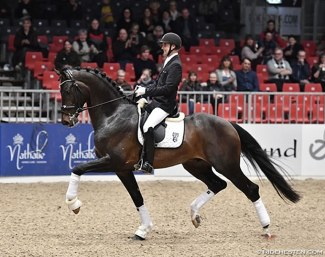 Andreas Helgstrand and Jovian at the 2018 DWB Stallion Licensing :: Photo © Ridehesten