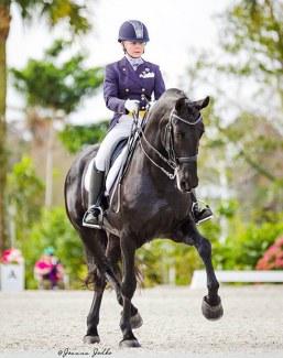 Ebony amateur riding