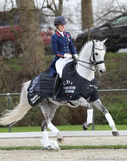 Charlotte Dujardin and Florentina sweep the small tour at the 2018 CDI Nieuw en St. Joosland :: Photo © Astrid Appels
