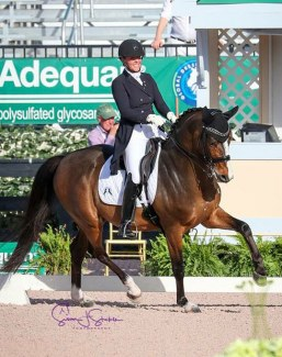 Eliane Cordia-van Reesema and Codiak at the 2018 CDI Wellington :: Photo © Sue Stickle