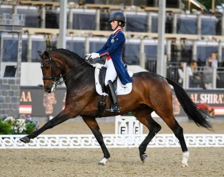 Charlotte Dujardin and Mount St. John Freestyle at the 2018 CDI Windsor :: Photo © Peter Nixon