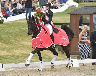 Sille Engermann and Darius win the 2018 Danish Under 25 Championships :: Photo © Ridehesten