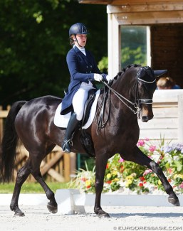 Katelijne Maes on Ibou van de Kapelhof at the 2018 CDIO Compiègne :: Photo © Astrid Appels