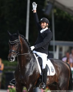 Andreas Helgstrand and Revolution win the 5-yo Finals at the 2018 World Young Horse Championships:: Photo © Astrid Appels