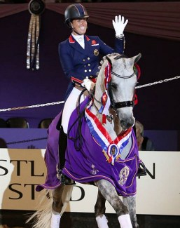 Dujardin and Florentina at the 2018 HOYS Dressage Future Elite Championship :: Photo © Julian Portch