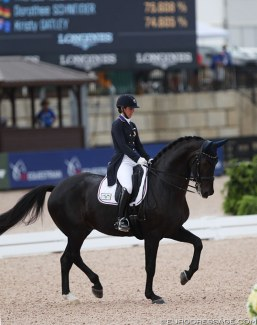 That dressage moment: Kasey Perrey and Gorklintgaards Dublet place sixth at the 2018 World Equestrian Games :: Photo © Astrid Appels