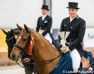 Frederic Wandres and Duke of Britain Win the 2018 CDI-W Zakrzow :: Photo © Lukasz Kowalski