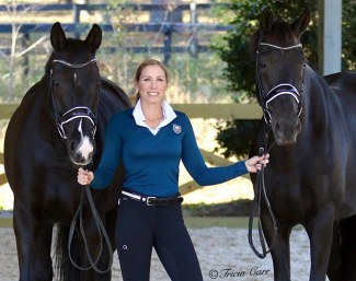 Justine Wilson with Sierranova and Erludine DVB :: Photo © Tricia Carr