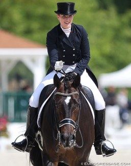 Morgan Barbançon Mestre and Sir Donnerhall II at the 2018 CDIO Compiègne :: Photo © Astrid Appels
