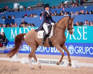Beatriz Ferrer-Salat and Delgado win the inaugural CDI-W Madrid on 25 November 2018 :: Photo © Lily Forado