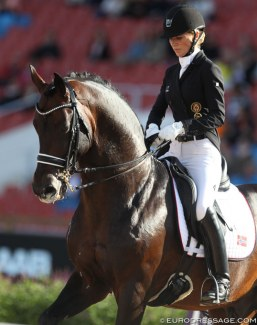 Isabel Freese and Bordeaux at the 2017 European Dressage Championships :: Photo © Astrid Appels