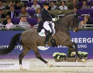 Dorothee Schneider and First Romance at the 2018 Nurnberger Burgpokal Finals