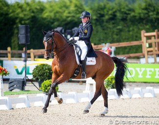 Amber van den Steen and Dutch Lord VS at the 2018 Belgian Junior Riders Championships :: Photo © Digishots
