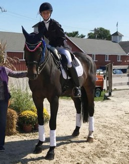 Megan Peterson on Amoretto at the 2018 Dressage at Devon