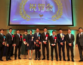 Japan's 2018 dressage team riders honoured at the 2019 Japan EF Gala in Tokyo