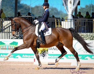 Laura Graves and Verdades at the 2019 CDI-W Wellington :: Photo © Sue Stickle