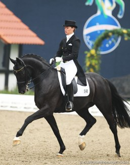 Kira Wulferding and Silver Black OLD at the 2014 Nurnberger Burgpokal qualifier in Hagen :: Photo © Astrid Appels