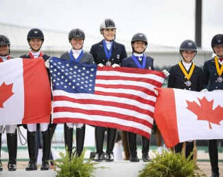 Team USA wins the Under 25 FEI Nations Cup at the 2019 CDIO Wellington :: Photo © Taylor Pence