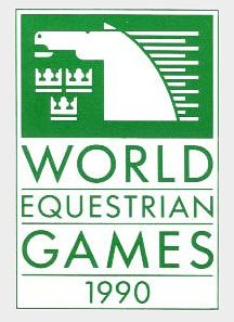 logo of the first World Equestrian Games held in 1990 in Stockholm, Sweden