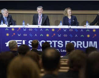 Gender equality session at the FEI Sports Forum at IMD Lausanne (SUI) :: Photo © FEi/Richard Juilliart