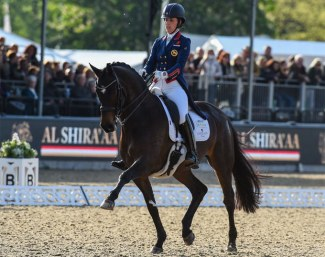 Charlotte Dujardin on Sonnar Murray Brown's Erlentanz at the 2019 CDI Windsor