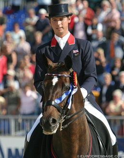 Carl Hester and Escapado at the 2005 European Dressage Championships in Hagen :: Photo © Astrid Appels