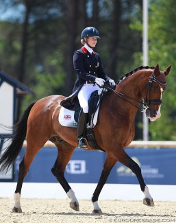 Charlotte Fry and Z Flemmenco at the 2015 European Young Riders Championships in Vidauban :: Photo © Astrid Appels