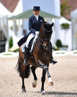 Dorothee Schneider and Showtime at the 2019 German Dressage Championships :: Photo © Barbara Schnell