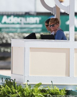 Austrian judge Elisabeth Max-Theurer at the 2019 CDI 5* Wellington :: Photo © Astrid Appels