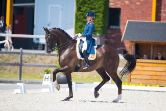 Anne Meulendijks and Edison at the 2019 CDI Kronenberg :: Photo © Digishots