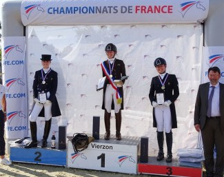 The podium with Barbançon, Chalvignac and Serre at the 2019 French Grand Prix Championships