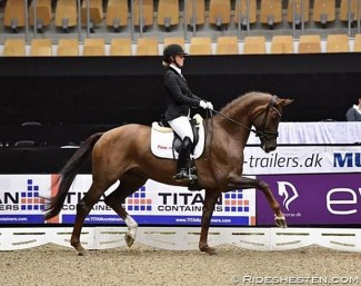 Anna Kasprzak and Victoria's Secret at the 2016 Danish Young Horse Championships :: Photo © Ridehesten