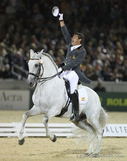 One of the best freestyles ever ridden in the history of dressage: Juan Manuel Muñoz and Fuego de Cárdenas at the 2010 WEG in Kentucky :: Photo © Astrid Appels
