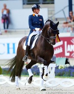 Emmelie Scholtens and Apache at the 2018 CDIO Aachen :: Photo © Astrid Appels