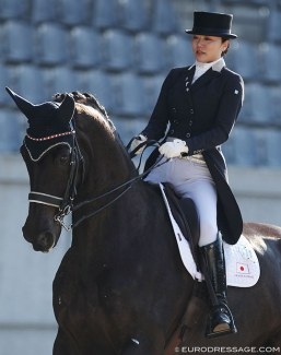 Akane Kuroki and Toots at the 2018 CDI Aachen Dressage Days :: Photo © Astrid Appels