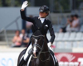 Marlies van Baalen with small tour horse Go Legend at the 2019 CDIO Aachen :: Photo © Astrid Appels