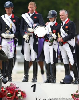 Great Britian winning the Nations Cup at the 2019 CDIO Compiegne :: Photo © Astrid Appels
