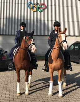 Selected in Warendorf for the 2019 German Developing Pony Riders Championships: Jette Brünjes on Nanchos Naseweis and Joshua Dietze on Monte