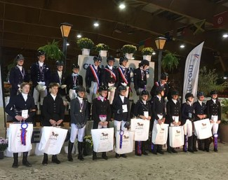 All the podium placegetters of the 2019 French Youth Riders Championships in Le Mans