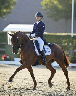 Kazuki Sado and Barolo at the 2019 CDI Waregem :: Photo © Astrid Appels