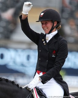 Agnete Kirk Thinggaard at the 2019 European Dressage Championships :: Photo © Astrid Appels