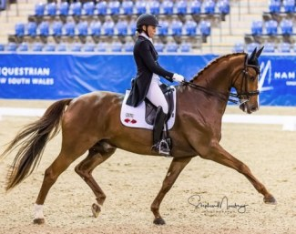 Wendi Williamson and Don Amour MH win the 2019 CDI Sydney :: Photo © Stephen Mowbray
