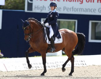 Charlotte Haid-Bondergaard and Roberto des Frettes at the 2019 CDI Hagen :: Photo © Astrid Appels