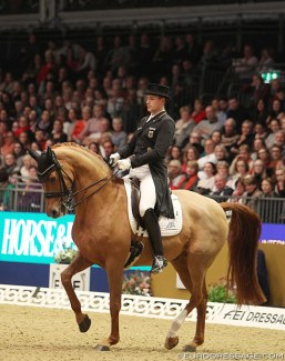 Frederic Wandres and Duke of Britain at the 2019 CDI-W London :: Photo © Astrid Appels