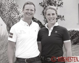 Kenneth Damgaard and Anne Marie Hosbond at Helgstrand Dressage U.S.A. in Wellington in 2019 :: Photo © Ridehesten
