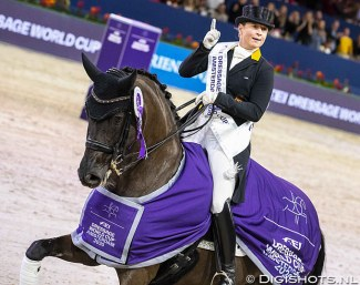 Isabell Werth and Weihegold are number one at the 2020 CDI-W Amsterdam :: Photo © Digishots