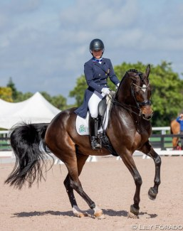 Natalie Pai and Utopie d'Ouilly at the 2020 CDN Wellington :: Photo © Lily Forado